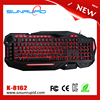 Waterproof Professional Gaming Keyboard USB Wired LED Illuminated Multimedia Gaming Keyboard