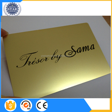 Custom-made gold/silver/bronze plated metal member card with different member names Shenzhen China Manufacturer