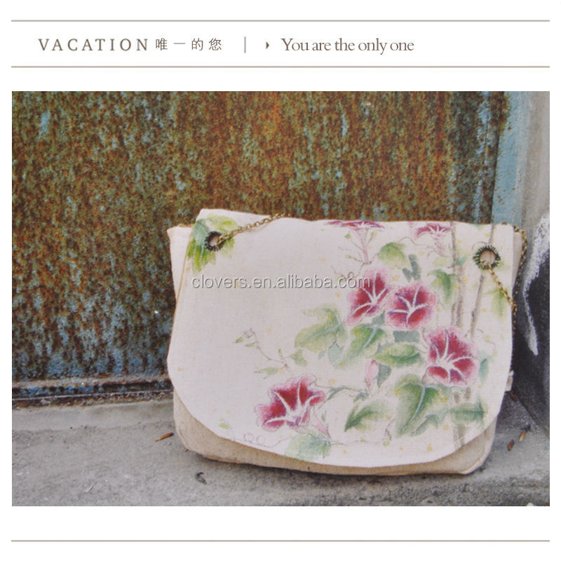 Nylon sewing good quality shoulder tote canvas bags