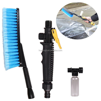 Direct Factory wholesale Car Spray Foam Long Handled Soft Bristle Brush Water Spray Microfiber Car Wash Brush