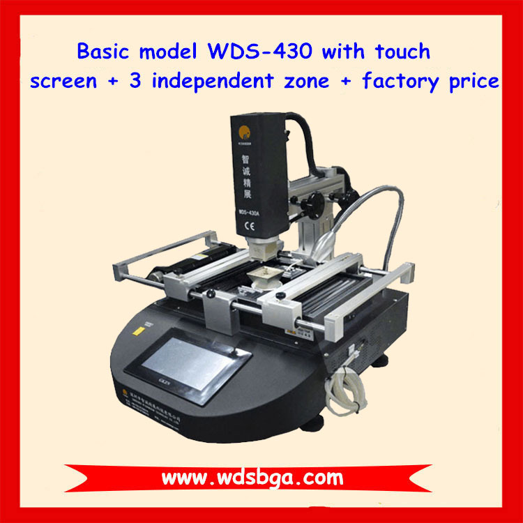 Factory price WDS-430 infrared bga reballing station/mobile ic repairing tools/laptop BGA chip rework equipment