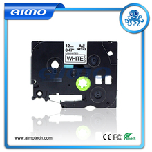 tz tape for tz-231 for brother p-touch printer black on white made in china