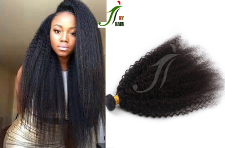 Best Selling Yaki Straight Curl Hair Weft Natural Black Color Weave Mongolian Hair Extension For Black Women