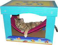Eco-friendly New popular Cardboard cat bed cat hammock