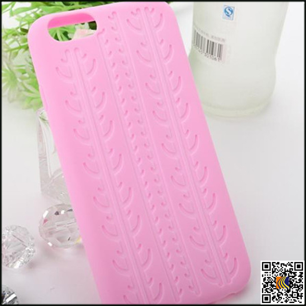 Tire grain pattern silicone protective case cell phone cover for iPhone 6