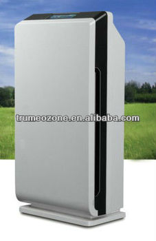 CE Rohs High quality commercial ozone ionic Air Purifier with Ion HEPA Active Carbon LCD touch screen
