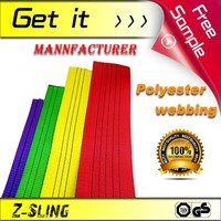 CE&TUV Certificated Z-Sling polyester webbing lifting sling Color Code Strap