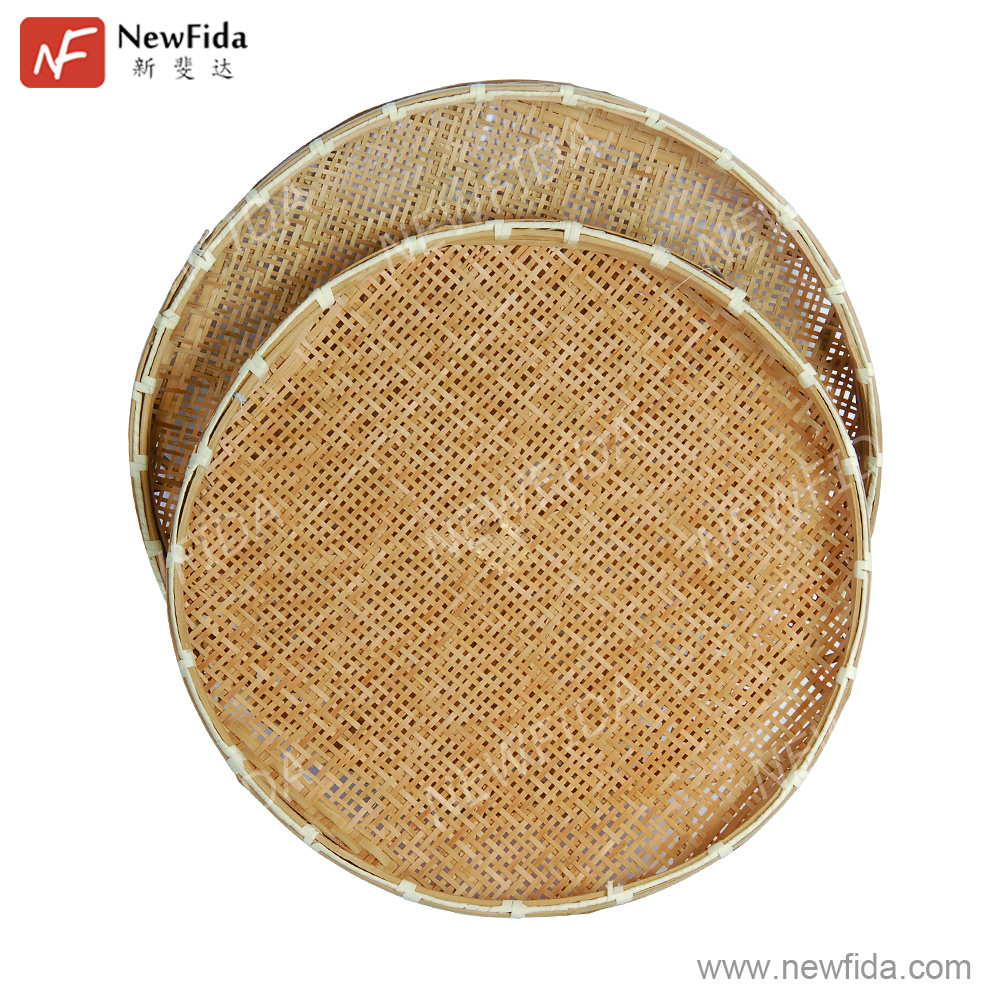Eco-friendly Good Quality China Factory Price Sale Fruit Flat Bamboo Weaving Products