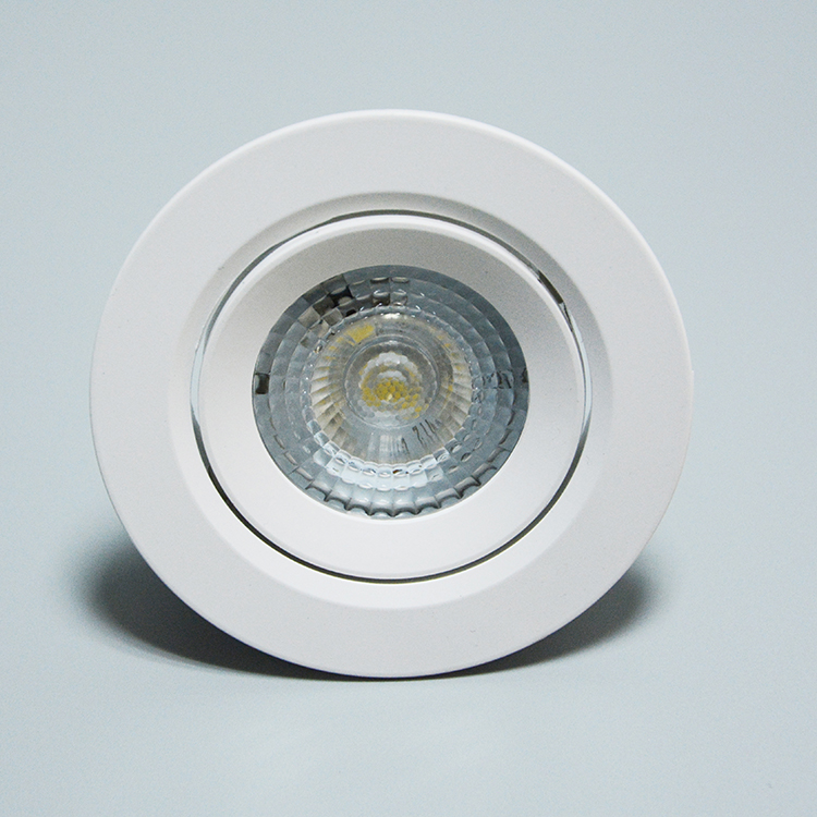 Economic new model PC body IC driver 180 degree movable retrofit square round recessed led downlight