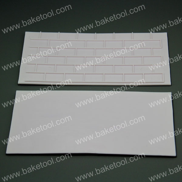 Tree and Solid Brick Shape Fondant Cake Decorating Stencil Cake baking tools