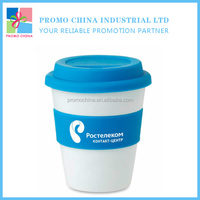 Hot Reusable Ceramic Silicone Coffee Mug With Lid And Sleeve
