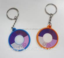Custom Logo Printed Fashionable UV tester keychain