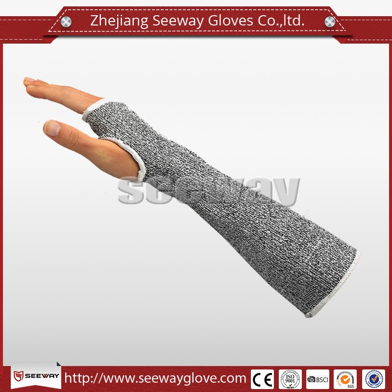 Seeway Cut Protect Sleeves with Thum Hole to Work with Glass
