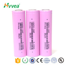 High capacity rechargeable 2600mAh 3.7V 18650 li- ion battery for camera