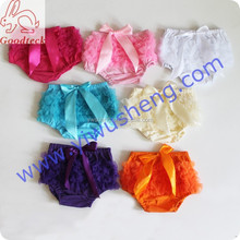 Wholesale cotton cute baby chiffon solid color ruffle bloomer 100% cotton baby diaper cover for infant &Toddlers