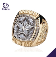 Shiny star Dallas Cowboys champions replica ring