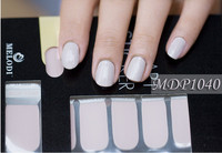 MELODI simple odor-free pure color nail sticker, factory price nail wraps, dry nail polish strips