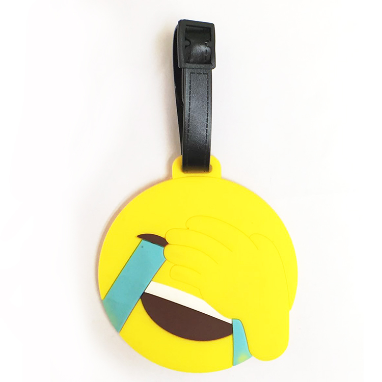 Free Samples Emoji PVC Luggage Tags for Suitcase Parts