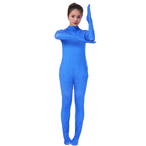 All-blue magical female cosplay costume Halloween Christmas dress up