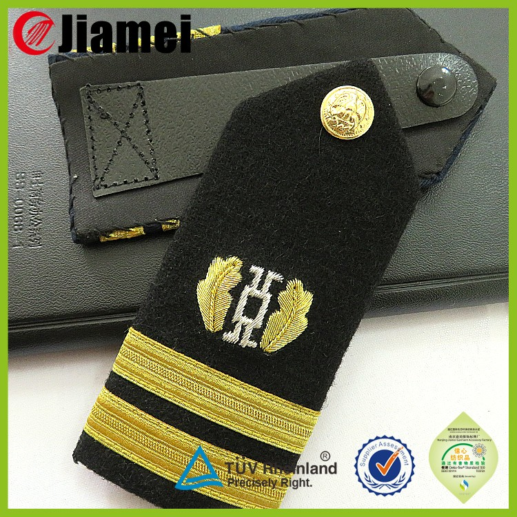 Factory custom shoulder strap sliders uniform epaulette shoulder boards