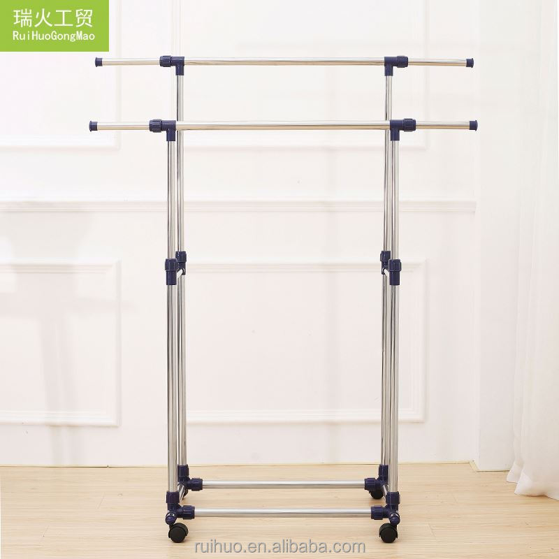 NEW HOME Magnetic trendy style refinement movable garment rack