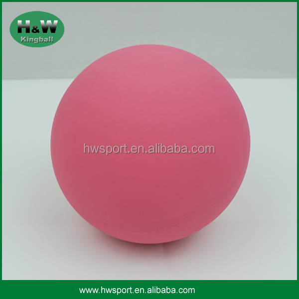 Pink color cheap price hollow rubber bouncing ball