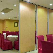 Aluminum Hotel Divider Folding Temporary Partition Walls With Wallpaper