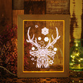 Latest 3D LED lamp 3D Table Lamp Wood picture Frame Atmosphere Night Light