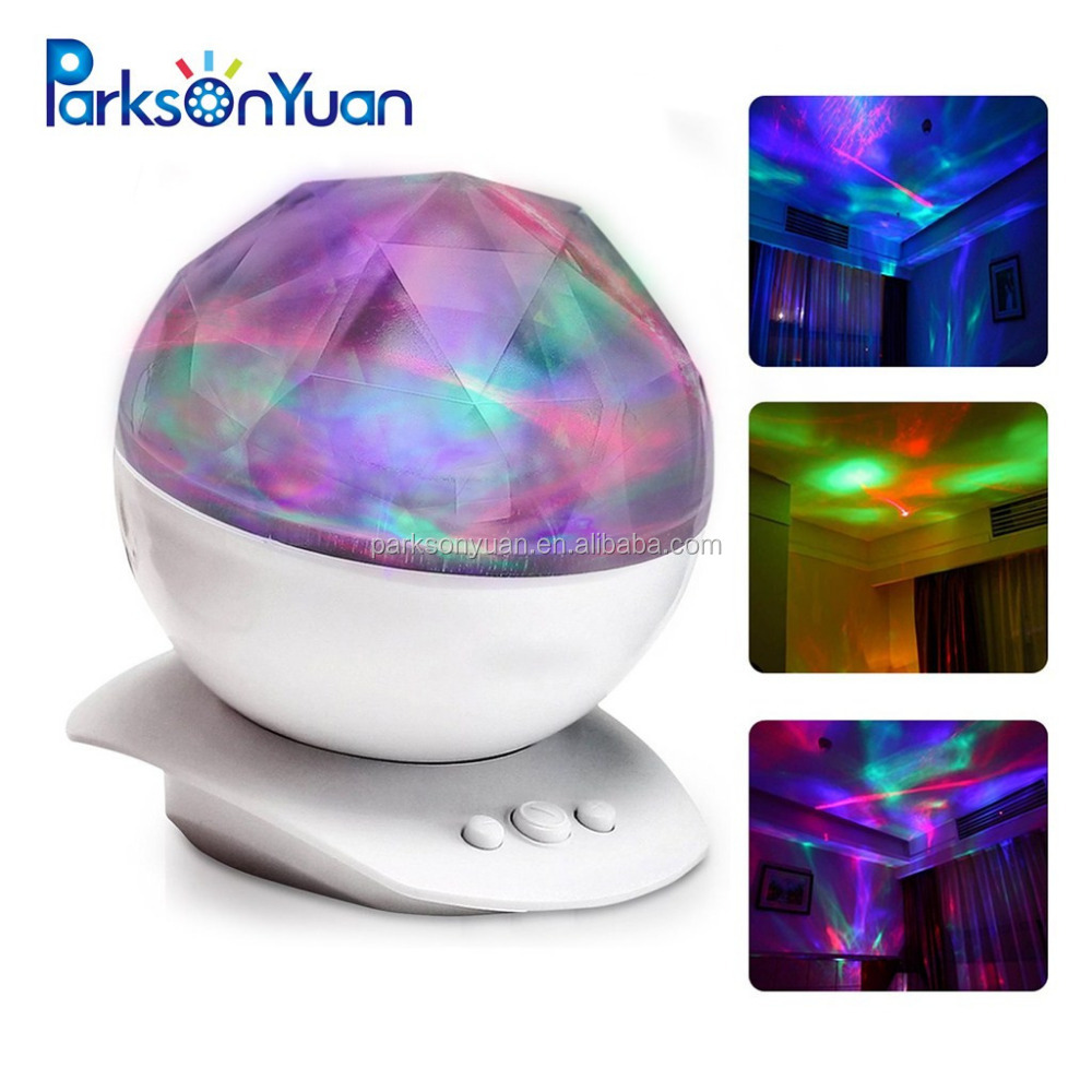 Night Light Projector,LED Night Light Projector Amir Color Changing Aurora Borealis Light Stereo Speakers, Sleep Aid Light