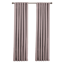 Y115D 2 Panel Solid Lined Thermal Blackout Grommet Window Curtain Drape