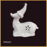 lovely white ceramic christmas deer porcelain deer figurine