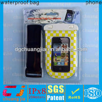 summer arm band hot-sale pvc waterproof mobile phone plastic bag