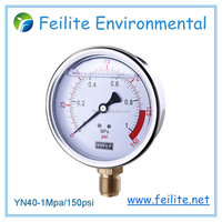 High quality stainless steel bottom type pressure gauge