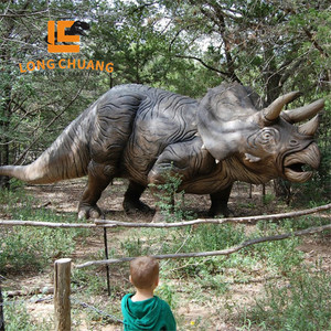 3d waterproof triceratops animatronic dinosaur model