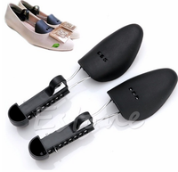 Durable Womens Plastic Adjustable 2-Way Shoe Boot Stretcher Shaper Tree New