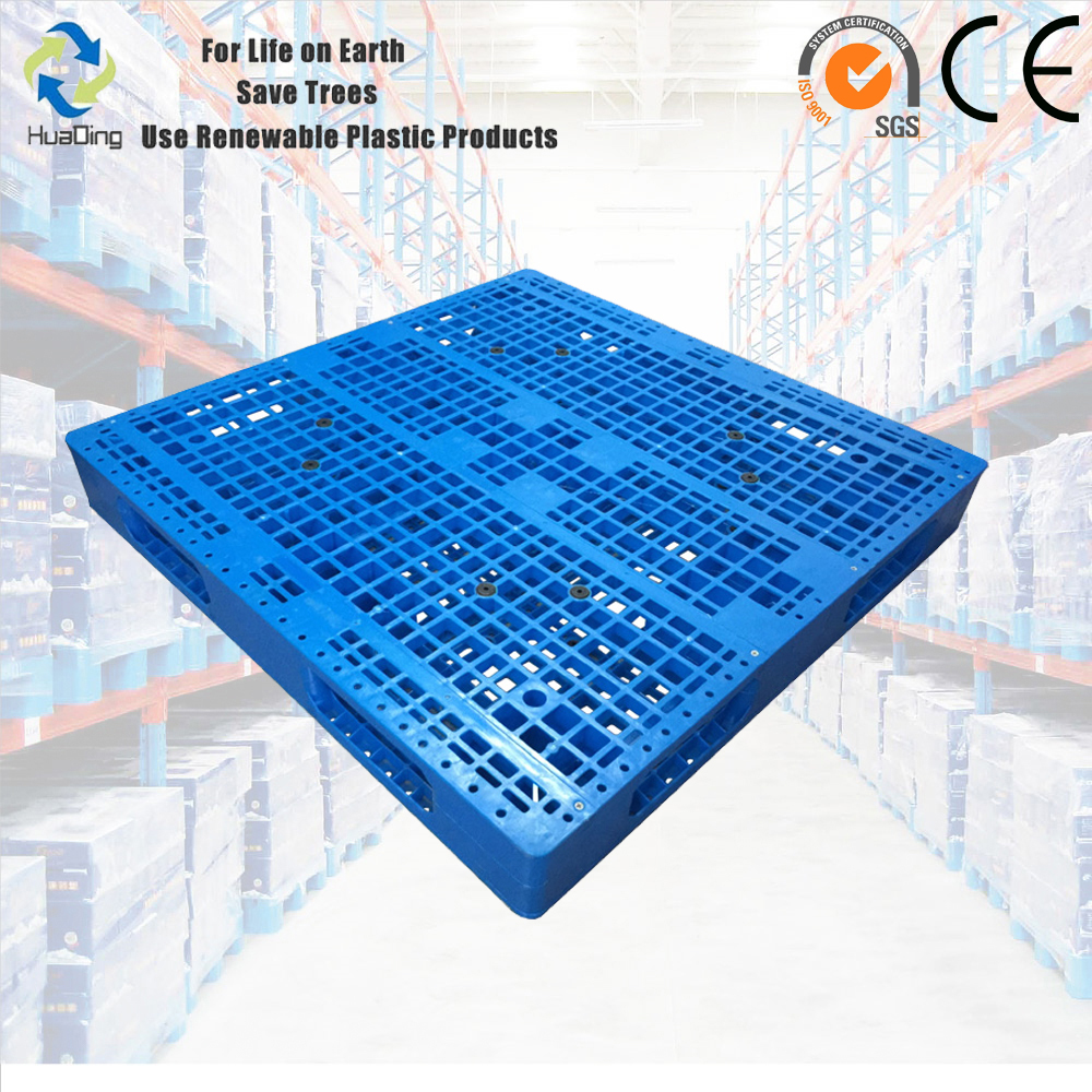 Second hand Double Deck Stacking Grid Deck Reversible Plastic Pallet