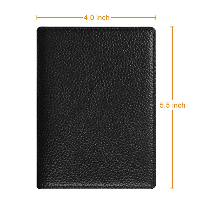 RFID Blocking PU Leather Card Case Cover Passport Holder Travel Wallet