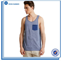 Best Quality Micro-Striped Pocket Tank Men Vest Casual Summer Fishing Vest