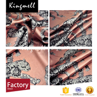 Factory direct digital satin print silk fabric with own designs