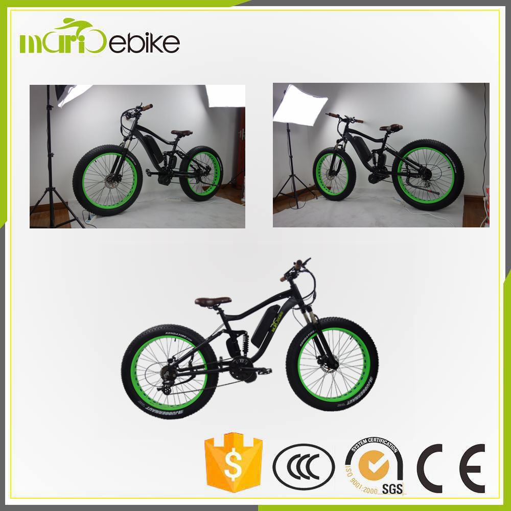 "Bafang Max System 1000w Mid Drive 26"" alloy fork snow Electric Bike/Bicycle/Ebike"