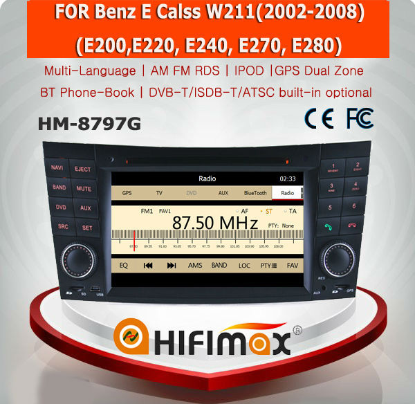 HIFIMAX WIN CE 6.0 Car DVD GPS For Mercedes Benz E Calss W211 2002-2008 Car GPS Navigation System