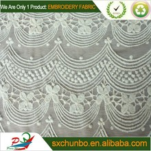 CHUNBOTEX. New American fashion 100% cotton netting mesh embroidery fabric YB-C583