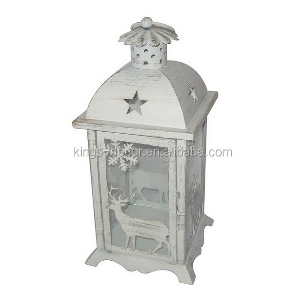 White High Quality mini Holder metal lantern for Christmas decoration