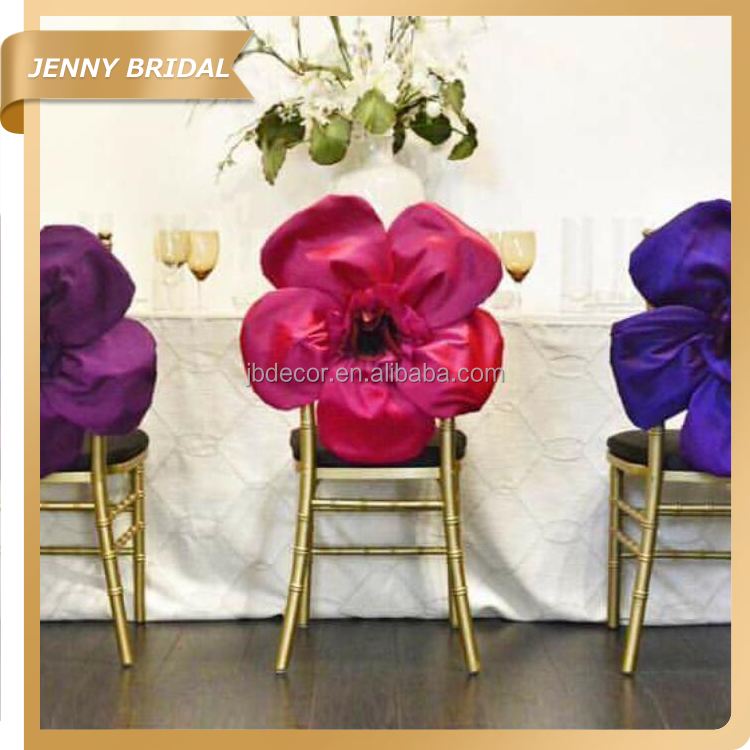 C436A cheap high quality outdoor half flower chair covers wedding decorations