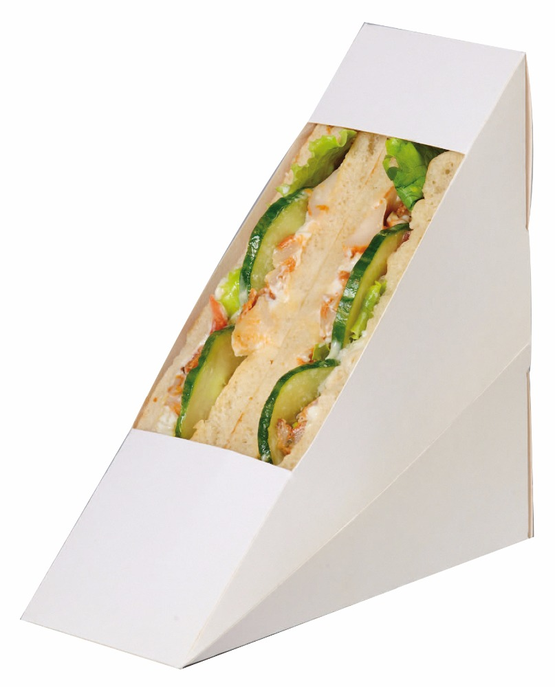 Hot selling cheap retail paper triangle sandwich packaging box