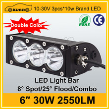 good feedback Amber and white lens spot led bar single row 30w