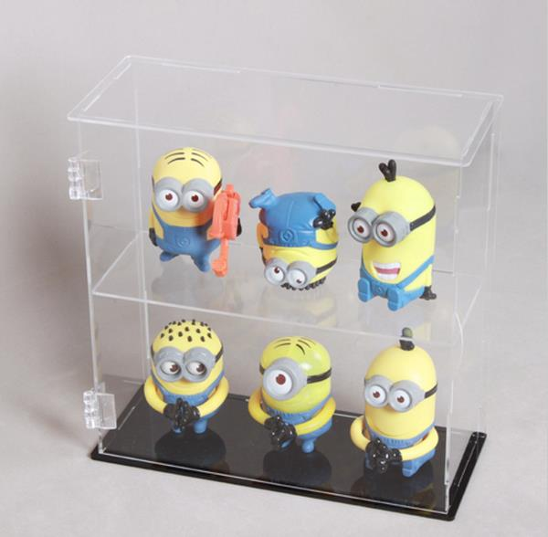 Sweet clear acrylic toy display holder lucite knick-knack showcase plexiglass trinkets storage box