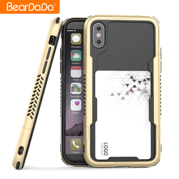 Best Quality hybrid bumper case for iphone 8,for iphone 8 case shock bumper