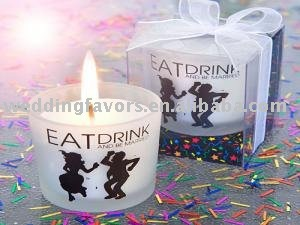 Eat Drink and be Married candles