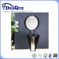 Pedestal wash basin price with faucet with mirror with frame floor stand